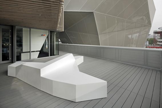 """Foto Deutscher Pavillon der EXPO 2010 Shanghai Abdruck frei bei Angabe der Quelle """"Architektur Schmidhuber + Kaindl / Ausstellung Milla & Partner"""